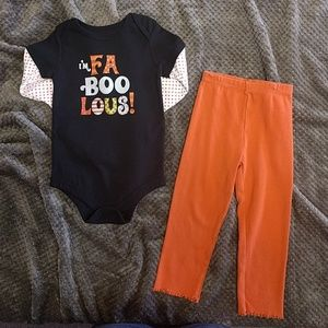 Gymboree fa-boo-lous 2 pieces set